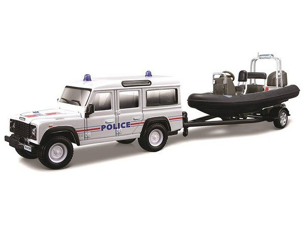 Land Rover Defender 110 + Embarcation Police BBURAGO