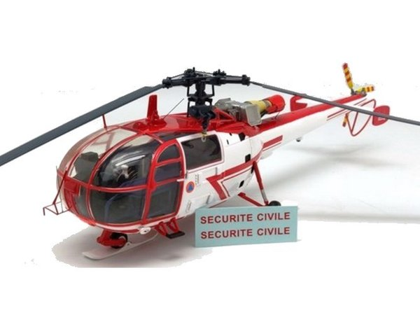 Sud Aviation Alouette 3 Sécurité civile ALERTE